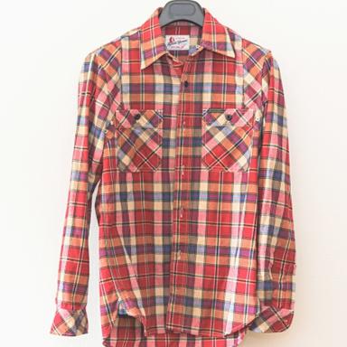 メンズネルシャツ(レッド)